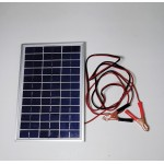 Solar Battery Charger 5W,12V - 0,3A with Battery Clamps