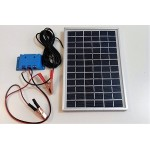 Solar Battery Charger 5W,12V - 0,3A with Charge Controller and  Battery Clamps