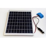Solar Battery Charger 10W,12V - 0,6A with Charge Controller and  Cigarette Lighter Connector