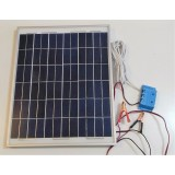 Solar Battery Charger 20W,12V - 1,2A with Charge Controller and  Battery Clamps