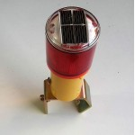 Solar Warning Light 2 LED with Clamp, Red, Flash
