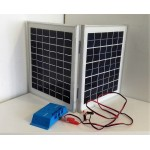 Solar Battery Charger 10W, 24V - 0,6A with Charge Controller 10A and  Battery Clamps