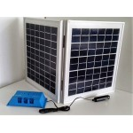 Solar Battery Charger 10W, 24V - 0,6A with Charge Controller 10A  and  Cigarette Lighter Connector