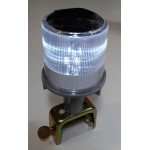 Solar Warning Light 4 LED with Clamp, White, Steady