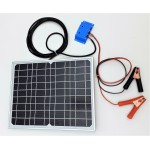 Solar Battery Charger 15W, 12V - 0,9A with Charge Controller 5A and Battery Clamps