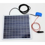 Solar Battery Charger 20W,12V - 1,2A with Charge Controller 5A and  Cigarette Lighter Connector