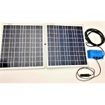 Solar Battery Charger 20W,24V - 1,2A with Charge Controller 10A and  Cigarette Lighter Connector