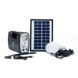 Solar Charging & Lighting System with 2 LED Bulbs