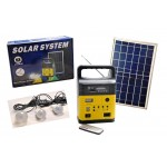 Solar Lighting Kit with Radio FM, MP3 and USB output