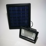 Solar Flood Light 60 White LED with Black Panel