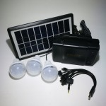 Solar Charging & Lighting Kit with 3 LED Bulbs