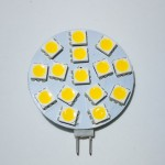 Lamp LED G4 Side Pin 2,4W - 12V, 15 SMD, Warm White