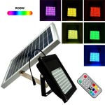 Solar Flood Light with 56 RGB LED and Remote control